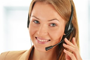 Call center operator. Customer support. Helpdesk .